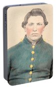 Portrait Of A Young  Civil War Soldier 3 Portable Battery Charger