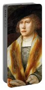 Portrait Of A Young Man Portable Battery Charger