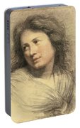 Portrait Of A Young Woman Looking Over Her Shoulder Portable Battery Charger