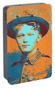 Portrait Of A Young  Wwi Soldier 4 Portable Battery Charger