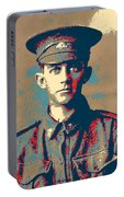 Portrait Of A Young  Wwi Soldier Series 19 Portable Battery Charger