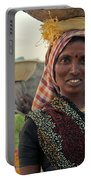 Portrait Of An Indian Lady Portable Battery Charger