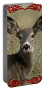 Portrait Of Bambi Portable Battery Charger