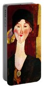 Portrait Of Beatrice Hastings Before A Door 1915 Portable Battery Charger