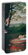 Portrait Of Charles I And Sir Edward Walker Portable Battery Charger