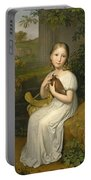 Portrait Of Countess Louise Bose As A Child Portable Battery Charger