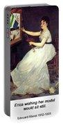 Portrait Of Eva Gonzales 1870 Portable Battery Charger
