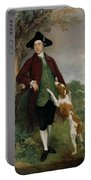 Portrait Of George Venables Vernon Portable Battery Charger by Thomas Gainsborough