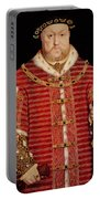 Portrait Of Henry Viii Portable Battery Charger by Hans Holbein the Younger