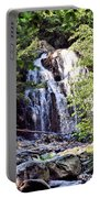 Portrait Of Houston Brook Falls Portable Battery Charger