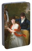 Portrait Of Jean-louis Gustave D'hautefort And His Sister Marie-therese-thais D'hautefort Portable Battery Charger
