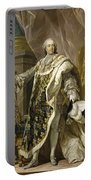 Portrait Of Louis Xv Of France Portable Battery Charger