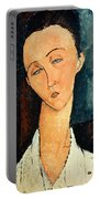 Portrait Of Lunia Czechowska Portable Battery Charger by Amedeo Modigliani