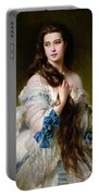 Portrait Of Madame Rimsky Korsakov Portable Battery Charger by Franz Xaver Winterhalter