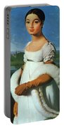 Portrait Of Mademoiselle Riviae 1805 Portable Battery Charger
