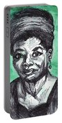 Portrait Of Maya Angelou Portable Battery Charger