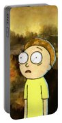Portrait Of Morty Portable Battery Charger