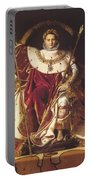 Portrait Of Napolan On The Imperial Throne 1806 Portable Battery Charger