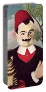 Portrait Of Pierre Loti Portable Battery Charger
