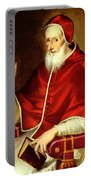 Portrait Of Pope Pius Portable Battery Charger