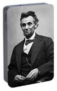 Portrait Of President Abraham Lincoln Portable Battery Charger