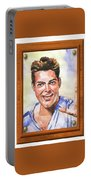 Portrait Of Ricky Martin Portable Battery Charger