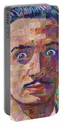 Portrait Of Salvador Dali Portable Battery Charger