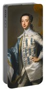 Portrait Of Sir James Lowther 1st Earl Of Lonsdale Three Quarter Length Holding A Mask In His Right  Portable Battery Charger