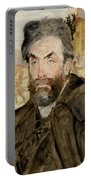 Portrait Of Stanislaw Witkiewicz Portable Battery Charger