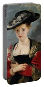 Portrait Of Susanna Lunden Portable Battery Charger