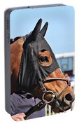 Portrait Of The Horse In The Hood Portable Battery Charger