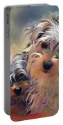 Portrait Of Yorkshire Terrier Puppy Dogs Portable Battery Charger