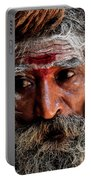 Portrait On The Ganges Portable Battery Charger