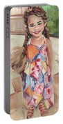 Portrait Painting Portable Battery Charger