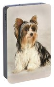 Portrait Yorkie Miss Mia Photo Painting Portable Battery Charger