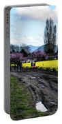 Portraits In A Daffodil Field Portable Battery Charger