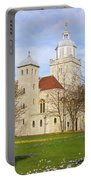Portsmouth Cathedral In Springtime Portable Battery Charger