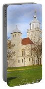 Portsmouth Cathedral At Springtime Portable Battery Charger