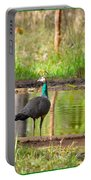 Posing Peahen Portable Battery Charger