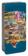Postcards Of The United States Vintage Usa All 50 States Map Portable Battery Charger