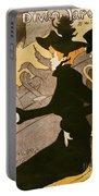 Poster Advertising Le Divan Japonais Portable Battery Charger by Henri de Toulouse Lautrec