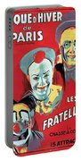 Poster Advertising The Fratellini Clowns Portable Battery Charger