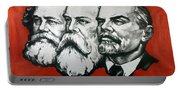 Poster Depicting Karl Marx Friedrich Engels And Lenin Portable Battery Charger