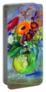 Pot Of Flowers Portable Battery Charger