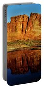 Pothole Reflections - Arches National Park Portable Battery Charger