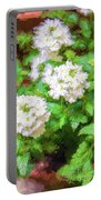 Potted Lantana Impression Portable Battery Charger
