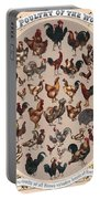 Poultry Of The World Poster Portable Battery Charger