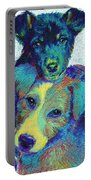 Pound Puppies Portable Battery Charger by Jane Schnetlage