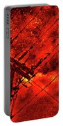 Power Line - Asphalt - Water Puddle Abstract Reflection 02 Portable Battery Charger