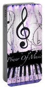Power Of Music Purple Portable Battery Charger